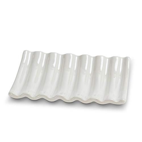 Abbott Collection 27 Ridged Soap Dish-Wht-5