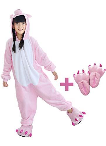 Beskie Kids Onesie Pajamas Unisex Animal Costume Sleepwear