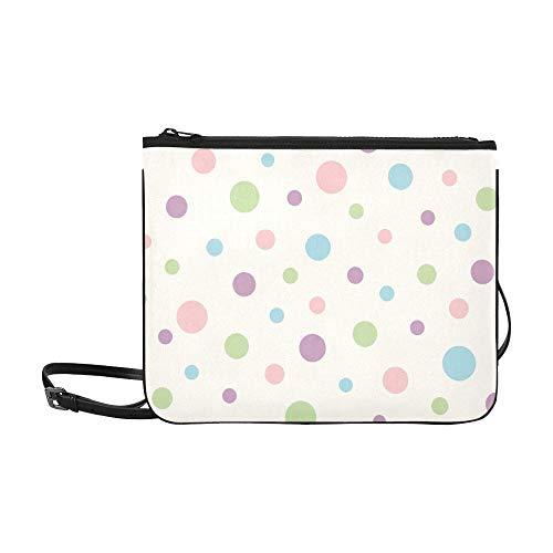 Brewster Home Fashions Borders By Chesapeake Dotty Pattern Custom High-grade Nylon Slim Clutch Bag Cross-body Bag Shoulder Bag