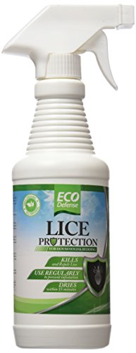 Eco Defense Lice Treatment For Home, Bedding, Belongings, and More - Safe Organic, Natural, and Non Toxic Ingredients - Works Fast to Kill & Repel Lice From Your Environment - 16 oz