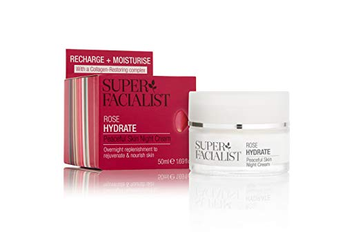 Super Facialist by Una Brennan Rose Hydrate Peaceful Skin Night Cream 1.69 Oz (Super Facialist By Una Brennan Rose Hydrate)
