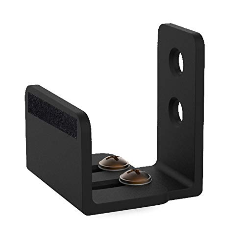 skysen Sliding Barn Door Bottom Floor Guide Matte Black Adjustable Wall Mounted with Felt Strip(711)