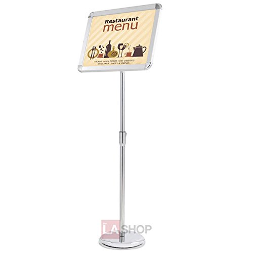 "11 x 17 Floor Pedestal Poster Display Sign Stand Holder w/ 10""Dia. Sturdy Metal Adjustable for Trade Shows Retail Stores Restaurants Graphics Posters Menus Direction Signs from Generic"