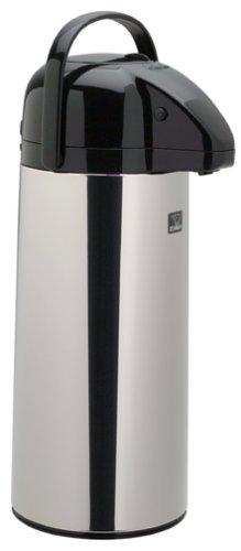 Zojirushi AAPE-25SCXA Air Pot Beverage Dispenser, 2.5 Liters, Polished Stainless, Made in Japan by Zojirushi