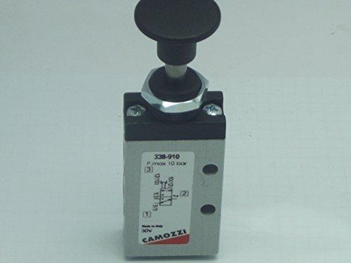 Camozzi 338-910 3/2 Bi Testing, 1/8 BSP manuell Druck 2 Position Zieh, Schalttafeleinbau