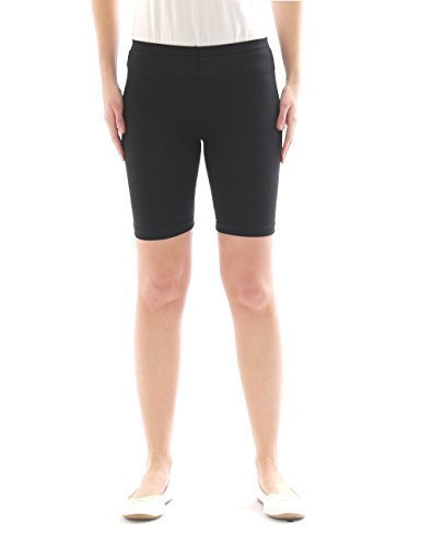 Kinder Shorts Sport Pants Sportshorts kurze Leggings aus Baumwolle Jungen Mädchen schwarz 158
