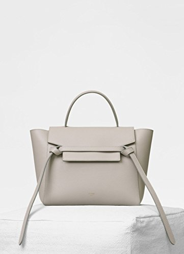CÉLINE Women's Leather Belt Bag Cross Body Hangbag Purse (beige)