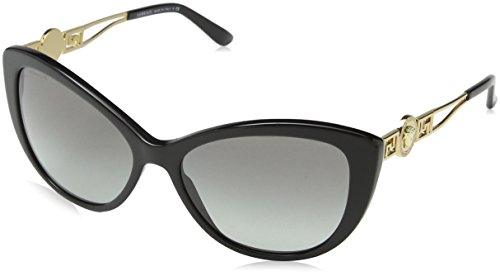 Versace VE4295 Sunglasses GB1/11-57 - Black Frame, Gray Gradient - Eye Sunglasses Cat Versace