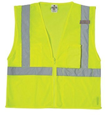 ML Kishigo 1085 Ultra-Cool Polyester Mesh 3 Pocket Vest, 2X-Large, Lime
