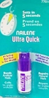 Set of 4 Nailene 0.10 oz. Ultra Quick Nail Glue bundled by Maven (Glue Gift)