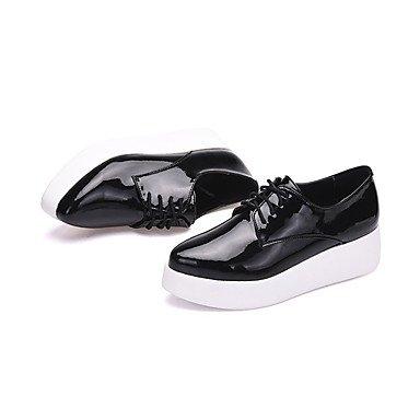 4in Leather Heels 2 Fall Light 7 5 2in Light LvYuan Real cn37 Black White Soles black Women's us6 ggx eu37 Casual Spring uk4 3 5 5 Soles wYYEpTq