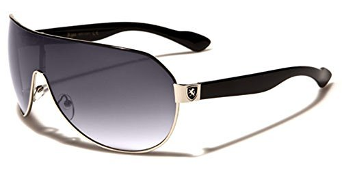 Men's Flat Top Sport Shied Aviator Sunglasses - Multiple - Shield Sunglasses Men