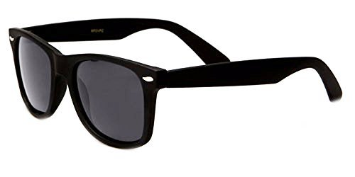 Sunglasses Classic 80's Vintage Style Design (Black Gloss, - Sunglasses For Accessories