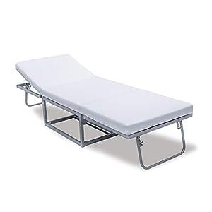 Triple Ottoman Folding Bed- Guest Bed Foam Mattress Suede Cover Denmark Design