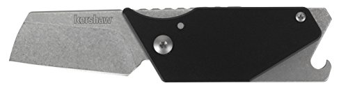 Kershaw 4036BLKX Pub Sinkevich Utility Compact Pocket Knife with Carabiner Opener Pry Bar & Screw Driver Tip, Black