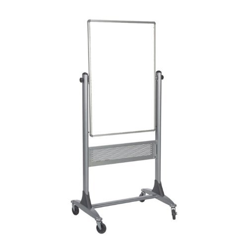 Best-Rite 669RU-DD Platinum Mobile Reversible Whiteboard Easel, 30 x 40 Inches Panel Size, Porcelain Steel Markerboard (Double Sided Porcelain Markerboard)