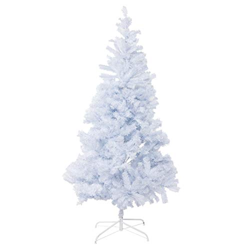 Bocca 6 FT Christmas Tree Atificial Premium Pine Full Tree Metal Leg 1000 Tips (White, 6FT)