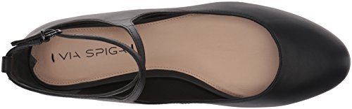 Via beige Nude 39 Leather donna Leather EU Spiga Donne Black Matte Ballerine Nappa rBwqrp