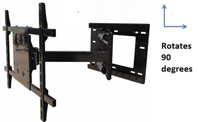 "New Rotating Portrait/Landscape TV Wall Mount Bracket for 55"" LG 55LB5900 LED Silver TV"