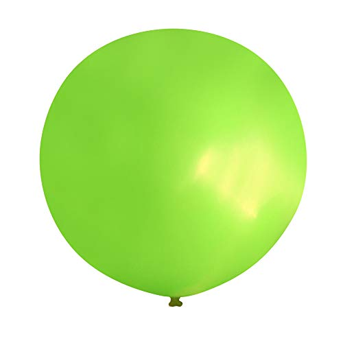 Neo LOONS 36 Inch Giant Latex Balloons, Pastel Lime Green Round Balloons for Birthdays Weddings Receptions Festival Party Decoration, Pack of 5 Pcs