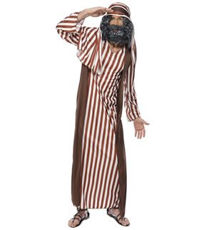 Shepherd Mens Nativity Fancy Dress Xmas Adults Joseph Costume Outfit Medium ()