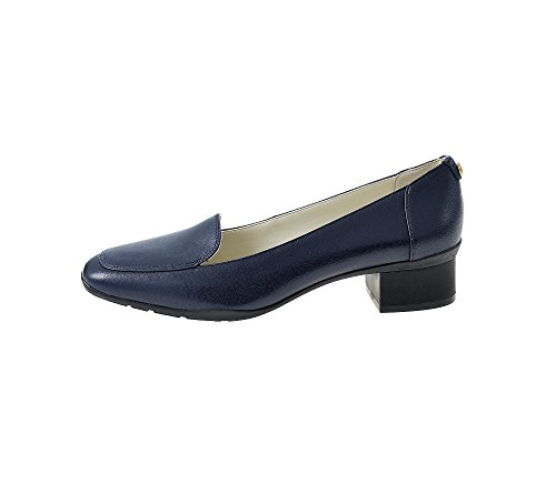 Women's Navy On Leather Loafer Leather Slip Daneen Klein Anne 6aqx55