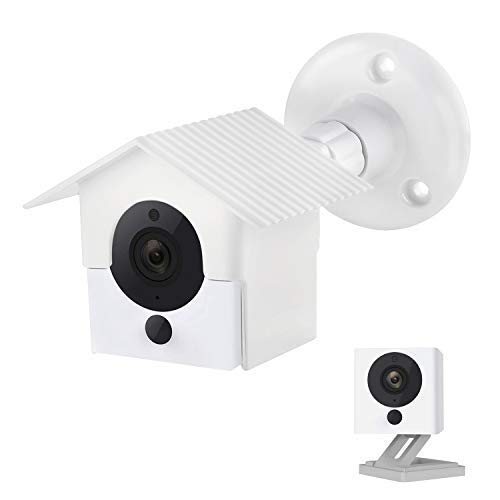 (Wyze Cam V2 Wall Mount,Protective Weather Proof Pan Housing Security Mount,for Wyze Cam 1082p HD Indoor Outdoor Cam and IsmartAlarm Spot Cam White)