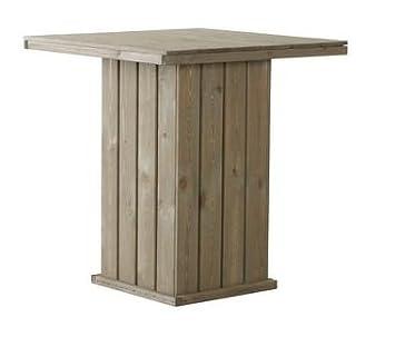 Amazon De Bartisch Stehtisch Aus Fsc Holz Gartentisch 100 X 100 Cm