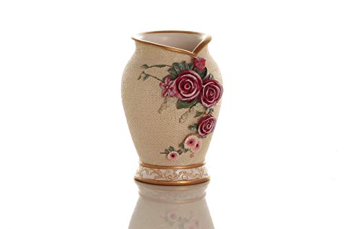 Sharel Beige Tumbler with 3D Roses Velentines Day Gift