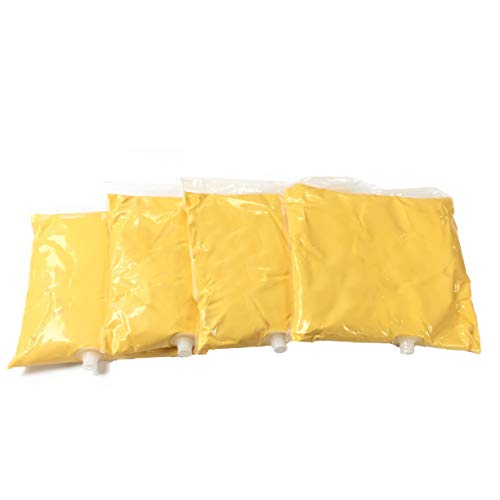 Paragon 2108C-1-Four Pouch (Case) Muy Fresco Cheddar Cheese Sauce Bags, Disposable Pouches, (4) bags, Yellow