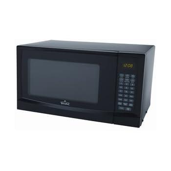 Amazon Com Rival 0 9 Cu Ft Microwave Oven Black