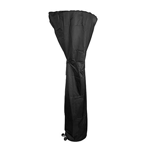 Cubierta de los muebles Paraguas Negro Cubierta del Calentador del Jardín Al Aire Libre Calefacción Estufa Lona...