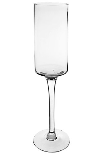 """Long Stem Glass Candle Holders with H-20"""", Opening Diamet..."""