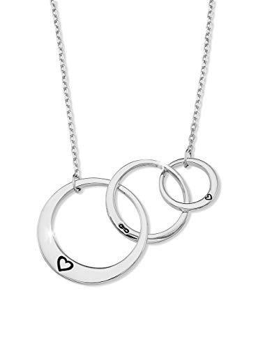 - Generations Necklace for Grandma Gifts - Sterling Silver Mom Granddaughter Grandmother Necklace Mother's Day Jewelry Birthday Gift Silver