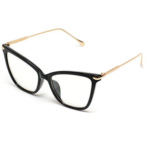 c2af1b3cab WearMe Pro - New Elegant Oversized Clear Cat Eye - Import It All