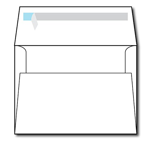 "White A7 Self Seal Envelopes - 50 Envelopes - Fits 5"" x 7"" Invitations / Greeting Cards - Great for Weddings"