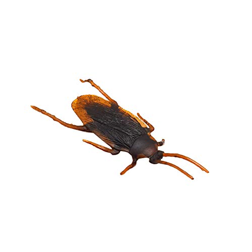 Aland 12Pcs Funny Plastic Simulation Cockroach Bug Fly Trick Toy Halloween Party Props Fake Halloween Decoration 12pcs