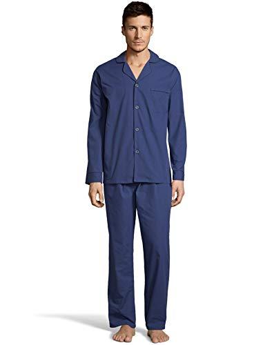 Hanes Mens Woven Pajamas, 4XL, Navy