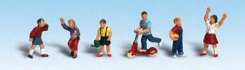 Woodland Scenics HO Scale Scenic Accents Figures/People Set Children (6) (Scale Ho People)