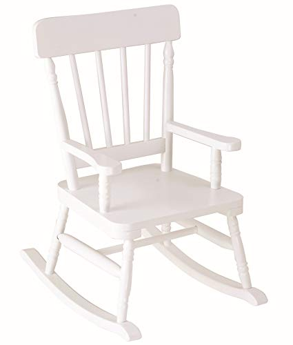 Wildkin Rocking Chair, Features Classic Rocker Design and Durable Wood Construction, Measures 23 x 17.5 x 29 Inches - White Finish
