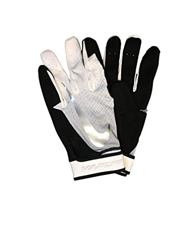 Nike Mens Vapor Elite Batting Glove Black-White-Silver L (Nike Vapor Elite Batting Gloves)