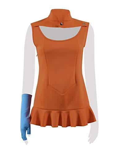 BESTcos Diane Women Role Play Skirt Halloween Anime Cosplay Costume Uniform Dress (Custom-Made, Orange)
