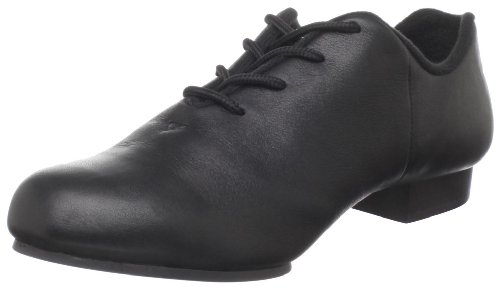Dance Class Women's CS201 Split Sole Jazz/Clogging Oxford,Black,7 M US Black Leather Tap Oxford