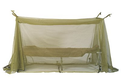 "Mosquito Insect Bar Field Netting USGI MILITARY ISSUE INSECT BAR FIELD TYPE - NSN 7210-00-266-9736 - Fully Opened 17ft x 6ft - 120"" x 48"" x 72"" When Set Up"