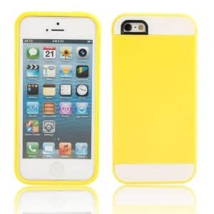 2-in-1 Protective TPU + PC Case for iPhone 5/5S Yellow