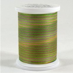 YLI 24450-V79 3-Ply 40wt T-40 Cotton Quilting Variegated Thread, 500 yd, Havana Market