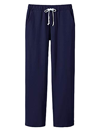 Women's Elastic Waist Drawstring Active Yoga Jogger Pants Casual Comfy Lounge Sweat Pants with Pockets Blue Size -