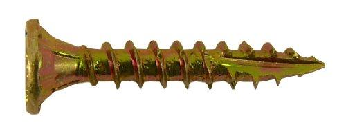 #8 x 1 Gold Star Wood Screw Torx/Star Drive Head (1 Pound) Approximately 276 Screws - Multipurpose Torx/Star Drive Wood Screws