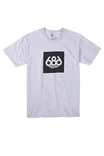 686 Men's Knockout Short Sleeve T-Shirt | 100% Ring Spun Cotton | Heather Grey - L ()
