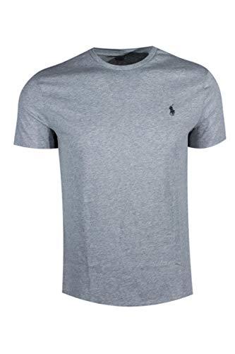 Polo Ralph Lauren Men's Crew-Neck T-Shirt (X-Large, Grey Heather)